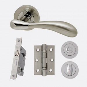 LPD - Internal Door - Ironmongery Venus Privacy Handle Hardware Pack 214 x 208 mm  HARDVENPRI