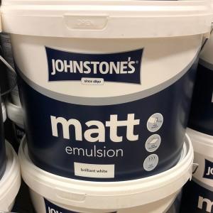 Johnstones Matt Emulsion 10L Briliant White