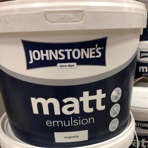 Johnstones Matt Emulsion 10L Magnolia