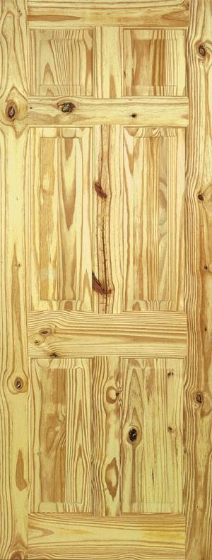 """LPD - Internal Door - Knotty Pine 6P 1981 x 610 (24"""")  PIN6P24"""