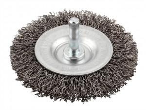 HSS Crimped Double Wheel Brushes Coarse  KWB607830