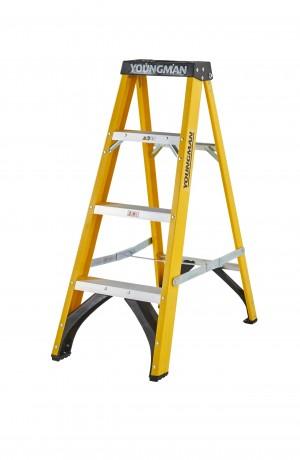 Youngman 52744418 S400 Fibreglass 4-Tread Step Ladder [YOU52744418]  YOU52744418