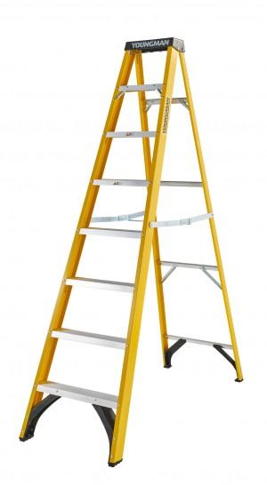 Youngman 52744818 S400 Fibreglass 8-Tread Step Ladder [YOU52744818]  YOU52744818