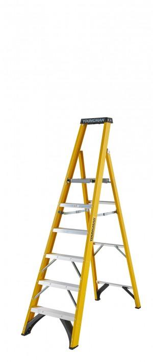 YOUNGMAN 52745618 S400 6 Tread Platform Step Ladder [YOU52745618]  YOU52745618