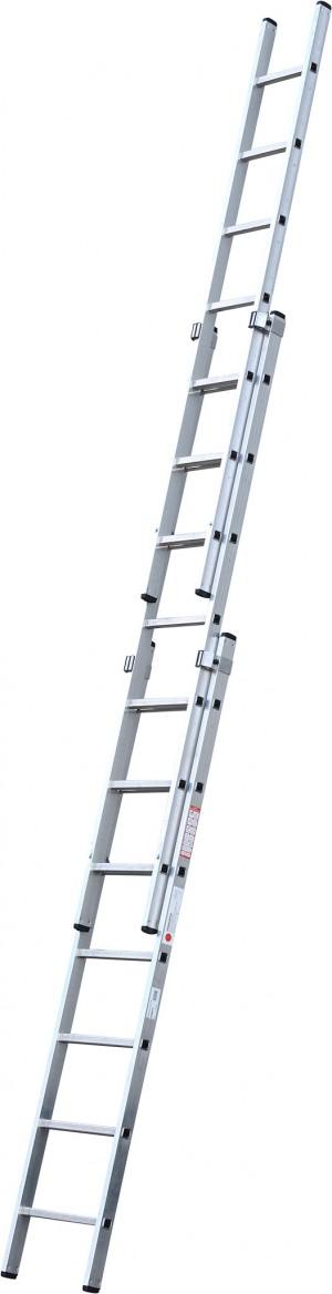 YOUNGMAN 570011 DIY100 2.21M 3 SECTION ALUMINIUM LADDER [MLRATDW]  MLRATDW
