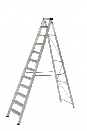 YOUNGMAN 31299618 12 Tread Builders Stepladder [WER31299618]  WER31299618