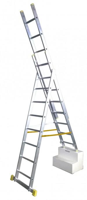 YOUNGMAN 34138118 2.4m COMBI Triple Ext Ladder [WER34138118]  WER34138118