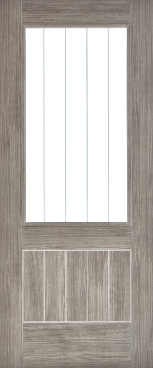"LPD - Internal Door - Light Grey Laminated Mexicano Glazed 1981 x 838 (33"")  LAMLGRMEXGL33"