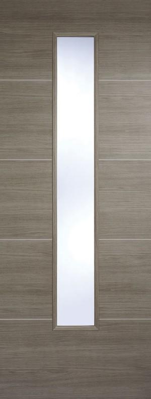 """LPD - Internal Door - Light Grey Laminated Santandor Glazed 1981 x 686 (27"""")  LAMLGRSANGL27"""