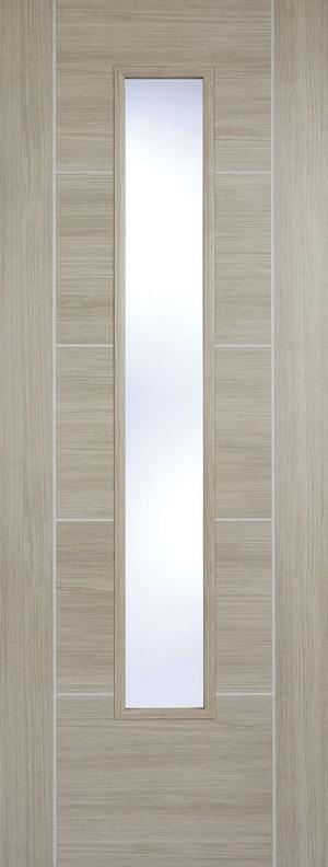 "LPD - Internal Door - Light Grey Laminated Vancouver Glazed 1981 x 838 (33"")  LAMLGRVANGL33"