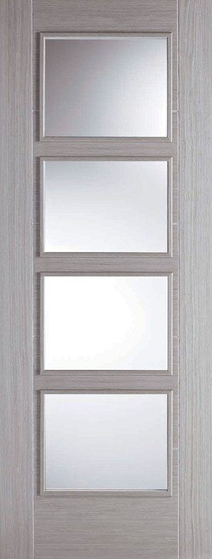 "LPD - Internal Door - Light Grey Vancouver 4L 1981 x 762 (30"") FC  LGRVAN4LFC30"