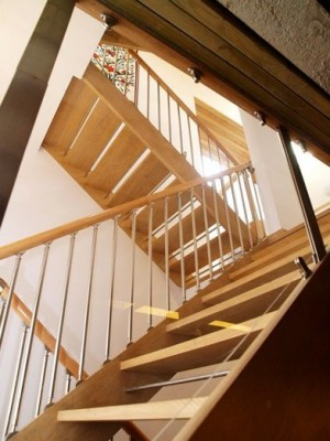 Pear Stairs - Little Chalfont Oak Metal and Glass Staircase (90)