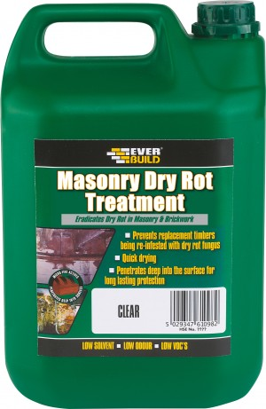 SikaEverbuild Masonry Dry Rot Treatment 5L Clear [SIKLJROT05]