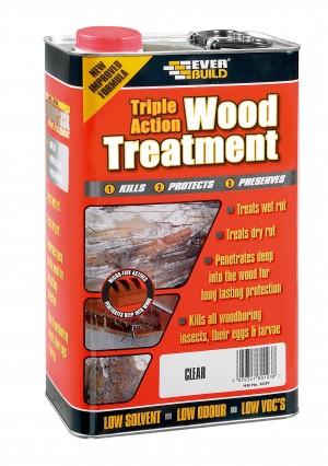 SikaEverbuild Triple Action Wood Treatment 25L Clear [EVBLJUN25]