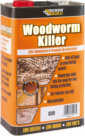 SikaEverbuild Woodworm Killer 5L Clear [EVBLJWORM05]