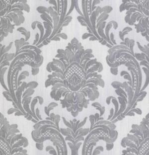 Milano 7 Damask Wallpaper - Grey Silver  M95585