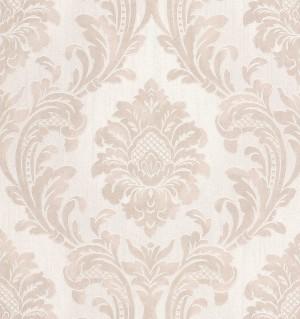 Milano 7 Damask Wallpaper - Beige White  M95589