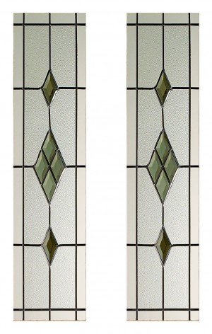 LPD - Internal Door - Malton Smoked ABE-Lead Glass Pack 875 x 179 mm  PPGPMALBRO27