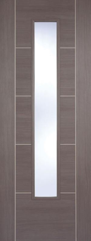 "LPD - Internal Door - Medium Grey Laminated Vancouver Glazed 1981 x 838 (33"")  LAMMGRVANGL33"