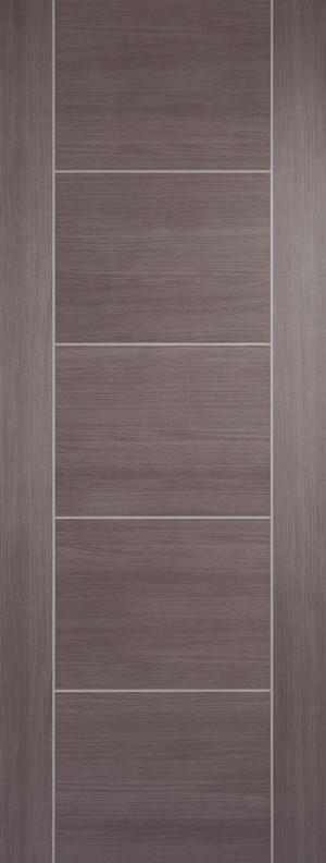 "LPD - Internal Door - Medium Grey Laminated Vancouver 1981 x 838 (33"")  LAMMGRVAN33"