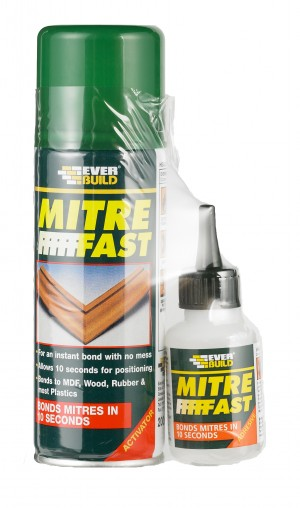 SikaEverbuild Mitre Fast Bonding Kit 50g/200ml Clear [EVMITRE1]