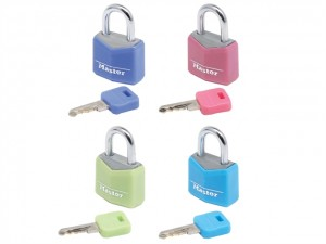 Aluminium Coloured Vinyl Cover Padlock