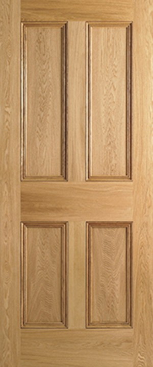 "LPD - Fire Door - Oak 4P 1981 x 686 (27"")  PP4P27OAKFC"