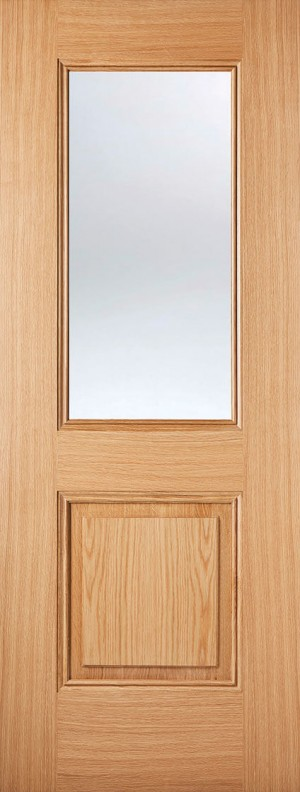 "LPD - Internal Door - Oak Arnhem 1L 1981 x 838 (33"")  ARNOAKGL33"