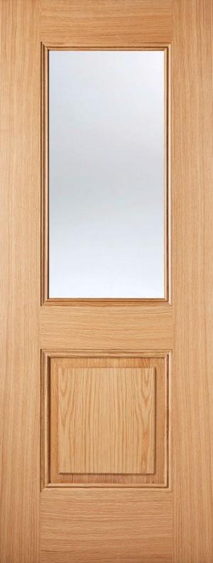 "LPD - Internal Door - Oak Arnhem 1L 1981 x 686 (27"")  ARNOAKGL27"