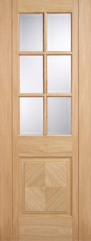 """LPD - Internal Door - Oak Barcelona Glazed 6L 1981 x 610 (24"""")  BAROAK24"""