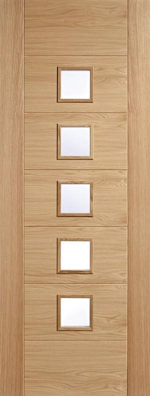 "LPD - Internal Door - Oak Carini 5L Pre Finished 1981 x 610 (24"")  OCARPFGL24"