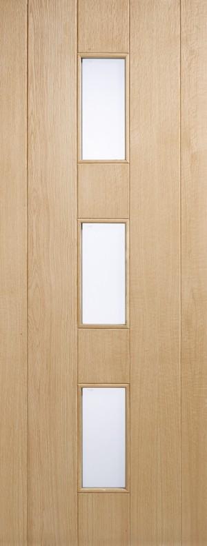 "LPD - External Door - Oak Copenhagen Glazed 3L 1981 x 762 (30"")  COPOAK30"