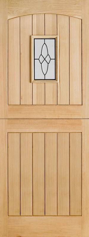 """LPD - External Door - Oak Cottage Stable Glazed 1L 1981 x 838 (33"""")  OCOTTSTA33"""