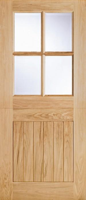 "LPD - External Door - Oak Cottage Stable Glazed 4L 1981 x 762 (30"")  OSTA4L30"