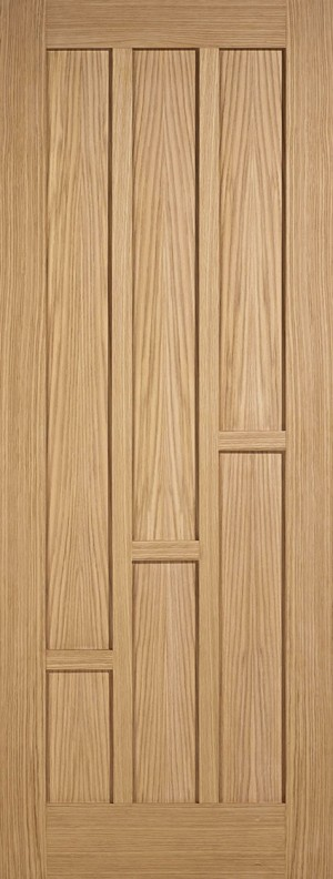 "LPD - Internal Door - Oak Coventry Pre-Finished  1981 x 610 (24"")  PFCOVOAK24"