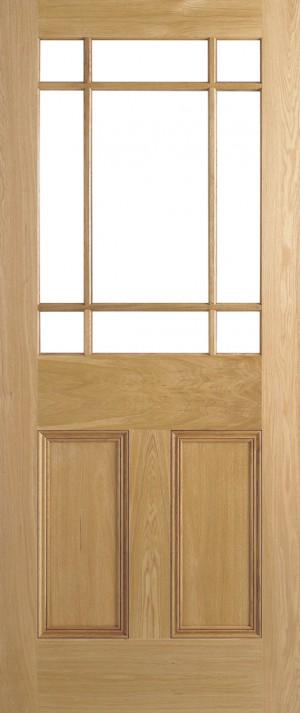 """LPD - Internal Door - Oak Downham Unglazed 9L 1981 x 686 (27"""")  PPDOW27OAK"""