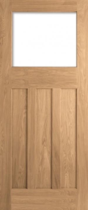 "LPD - Internal Door - Oak DX 30s Style Unglazed 1981 x 686 (27"")  PPODX27OAK"