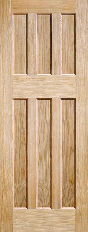 """LPD - Internal Door - Oak DX 60s Style 1981 x 762 (30"""")  PPDX6030OAK"""