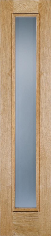 """LPD - External Door - Oak Frosted Sidelight Glazed 1L 2057 x 457 (18"""")  OSLFROSTED"""