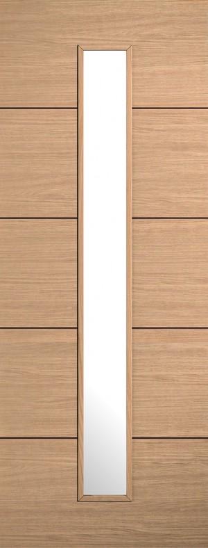 "LPD - Internal Door - Oak Lille Glazed 1L 1981 x 686 (27"")  OLILLEGL27"