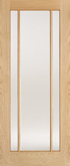"LPD - Internal Door - Oak Lincoln Glazed 3L Clear Glass 1981 x 533 (21"")  OLING21"