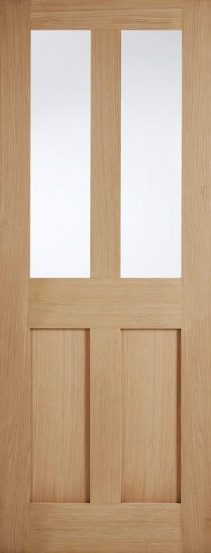 """LPD - Internal Door - Oak London Glazed 2L 1981 x 686 (27"""")  OLONG27"""
