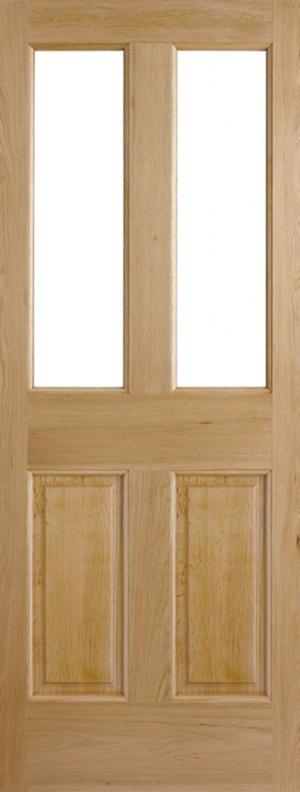 "LPD - External Door - Oak Malton 2L Unglazed 2032 x 813 (32"")  OMAL32"