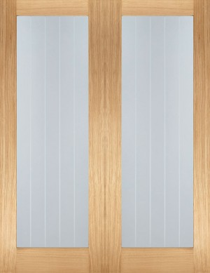 LPD - Internal Door - Oak Mexicano Glazed Pair 1981 x 1067 mm  OPRSMEXG42