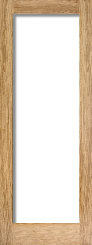 """LPD - Internal Door - Oak Pattern 10 Glazed 1L Clear 1981 x 533 (21"""")  OP10G21"""