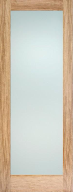 """LPD - Internal Door - Oak Pattern 10 Glazed 1L Frosted 1981 x 762 (30"""")  OP10FG30"""