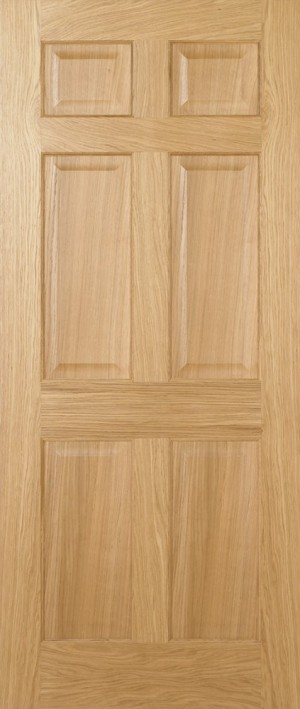 "LPD - Fire Door - Oak Regency 6P Pre-Finished 1981 x 686 (27"")  PFFCOREG27"