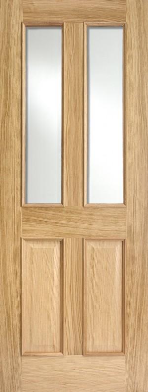 "LPD - Internal Door - Oak Richmond Glazed 2L RM2S 1981 x 838 (33"")  ORICRMSG33"