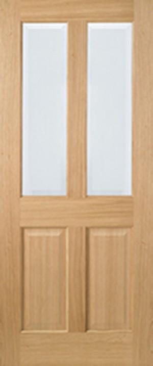 "LPD - Internal Door - Oak Richmond Glazed 2L 2032 x 813 (32"")  ORICCG32"