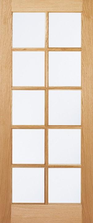 "LPD - Internal Door - Oak SA Glazed 10L 1981 x 762 (30"")  OSA10G30"